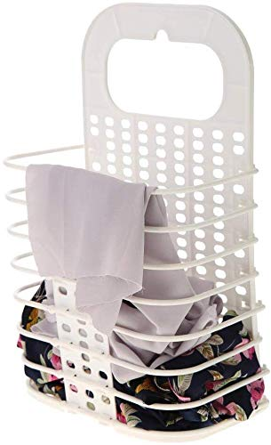 Bathroom Folding Laundry Basket Wall Hanging Household Clothes Storage Basket Bathroom Organizer