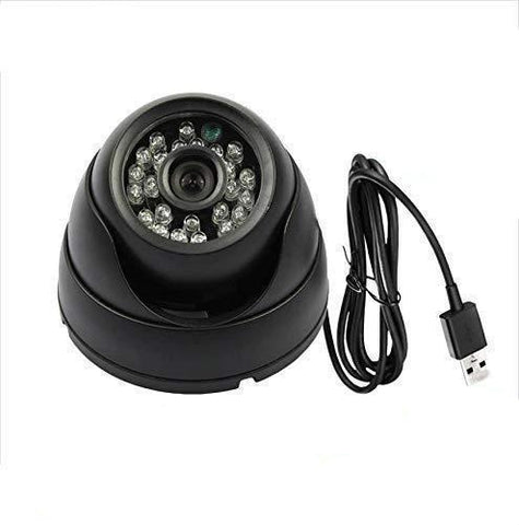 Dome CCTV Security Camera with Night Vision, TV-Output and Expandable Memory of up to 32GB (Black) - gadgetbucketindia