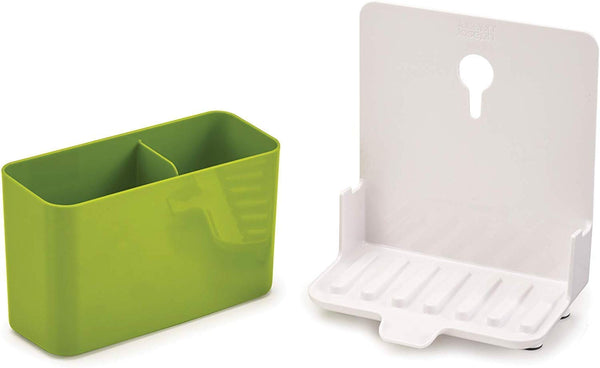 Gadgetbucket Slimline Sink Caddy Kitchen Sink Organizer Sponge Holder Dishwasher-Safe Green)