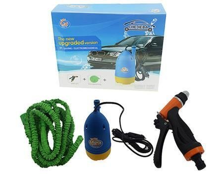 Gadgetbucket 12 V Car Wash High Pressure Electric Washing Machine Cleaning Electric Pump Pressure Washer with Water Gun 10m Special Hose Pipe Submersible Pumps