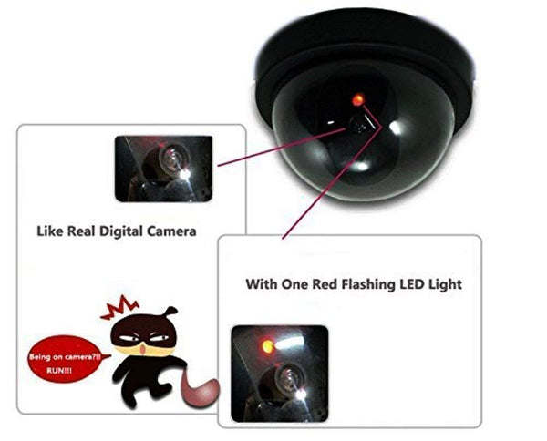 Un-Tech Dummy Fake Infrared Sensor Dome Wireless Security Camera with Blinking Led Realistic Looking CCTV Surveillance