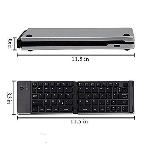 UnTech Foldable Bluetooth Keyboard Magnetic Close F66 with Mobile Stand - gadgetbucketindia