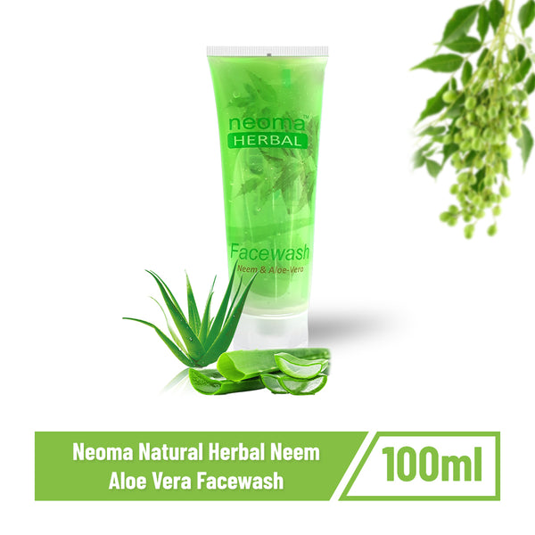 Neoma Natural Herbal Neem Aloe Vera Facewash-100ml (Pack of 2)