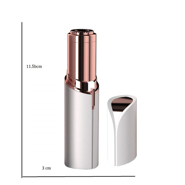 Ergode Lipstick Shape Painless Flawless Electronic Facial Hair Remover Shaver For Women
