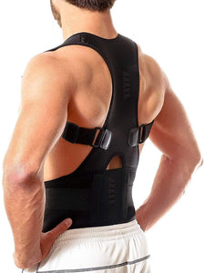 Magnetic Back Brace Posture Corrector Therapy Shoulder Back Support Belt Pain Relief for Men & Women