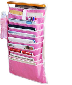 Ergode Multifunctional Adjustable Desk-Side Hanging Book Organizer Bag Multicolor (Only Hanging Organiser)