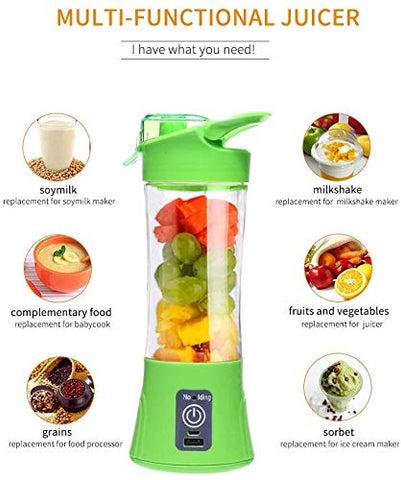 Ergode Juicer Cup Mini Portable Juice Blender Smoothie Maker Fruit Juicer Bottle 380 ml