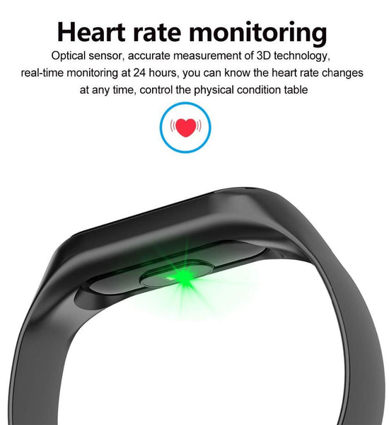 UnTech M3 Fit Band Activity Tracker Heart Rate Monitor Blood Pressure Monitor, OLED Display