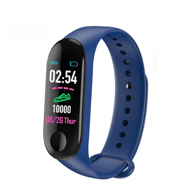UnTech M3 Band with Activity Tracker, Heart Rate Monitor OLED Display for Android and iOS (Navy Blue) - gadgetbucketindia