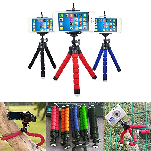 UnTech Octopus Style Tripod with Universal Mobile Monopod Mount Adapter & Long Screw Mobile Holder (Colors as per Available) - gadgetbucketindia