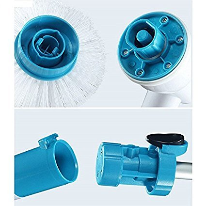 Multifunction Tub and Tile Scrubber Cordless Power Spin Scrubber Power Cleaning Brush for Bathroom Floor Wall - gadgetbucketindia