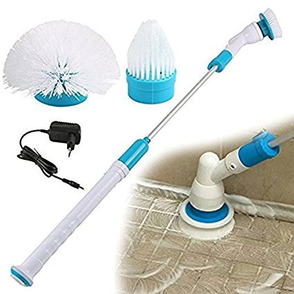 Ergode Multifunction Tub and Tile Scrubber Cordless Power Spin Scrubber Power Cleaning Brush for Bathroom Floor Wall
