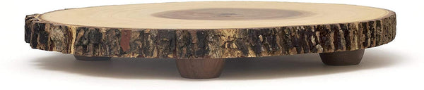 Tree Bark Footed Server for Cheese, Cracker