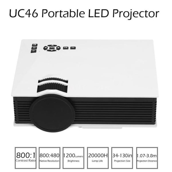UnTech UC46 Mini WiFi Portable LED Projector with Miracast DLNA Airplay Full Hd Color - gadgetbucketindia