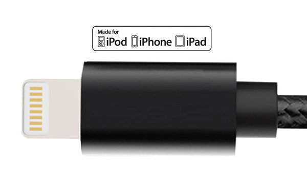 UnTech Canvas Fabric Fast Charging Data Cable Black for Iphone - gadgetbucketindia