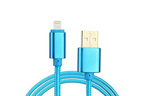 UnTech Canvas Fabric Fast Charging Data Cable Blue for Iphone