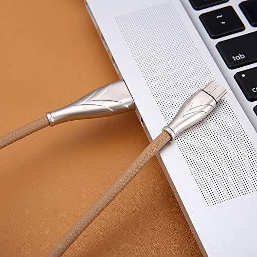 UnTech Mesh Plastic Rubber Covered Fast Charging USB Micro usb Cable Cream for Android