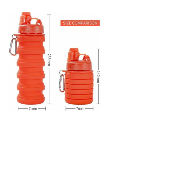 Silicone Sipper Portable Leak Proof Foldable Water Bottle - BPA Free & FDA Approved - gadgetbucketindia