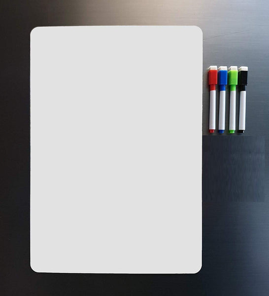 Magnetic White Board Sheet 11.5 inch Dry Erase Included with 4 Markers - gadgetbucketindia