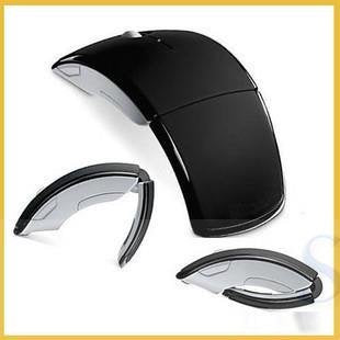 UnTech 2.4GHz Ultra Slim Wireless Arc Style Foldable Optical Mouse for Laptop Notebook PC - gadgetbucketindia