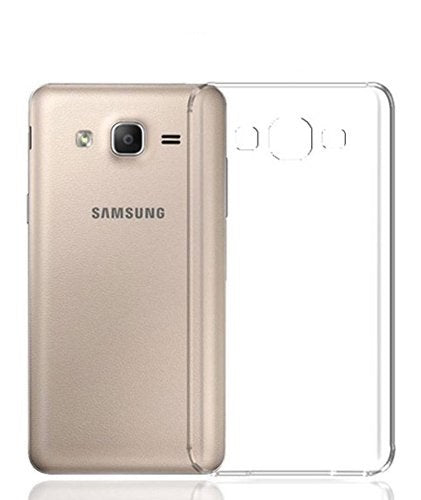 Samsung On 5 Pro Transparent Mobile Phone Back Cover Case with TPU Corner Protection Phone Cover