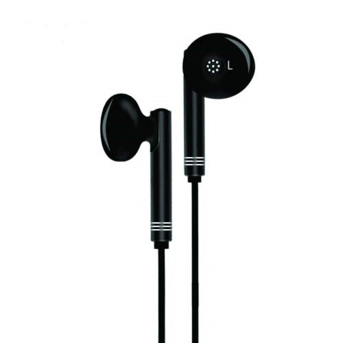 Wired in-Ear Headphone with 3.5 mm Jack and Mic for All Smartphones Iphones-GH59 (Black)---Pack of 2