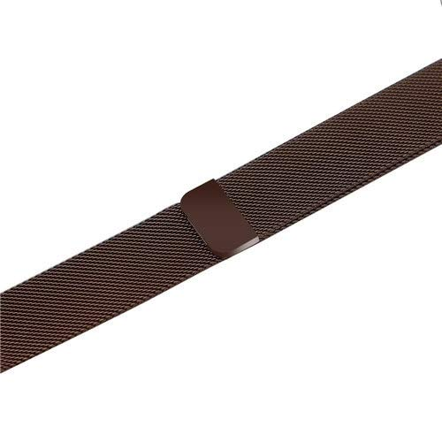 Stainless Steel Milanese Strap Band with Magnetic Closure Compatible with iWatch Series 1/2/3/4 (42 MM, Brown)