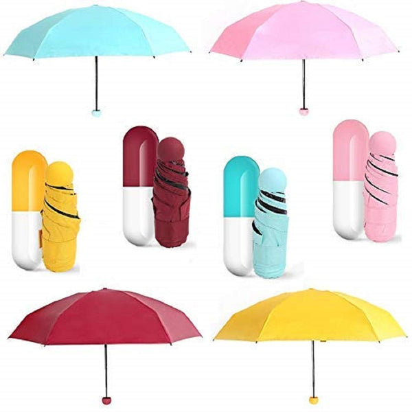 Mini Folding Umbrella-Assorted Color