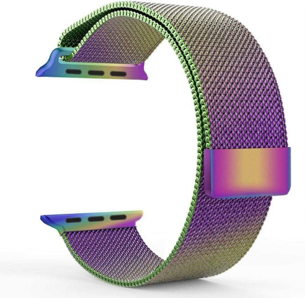 Stainless Steel Milanese Strap Band with Magnetic Closure Compatible with iWatch Series 1/2/3/4(colourful)