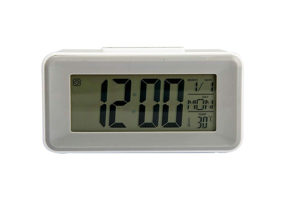 Digital LED DS-3620 Alarm Clocks Student Clocks with Week Snooze Thermometer Voice Control Back-Light LCD Clock