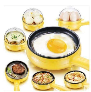 Multifunctional 2 in 1 Electric Egg Boiling Steamer Egg Frying Pan with Egg Boiler Machine Non-Stick Electric Egg Frying Pan