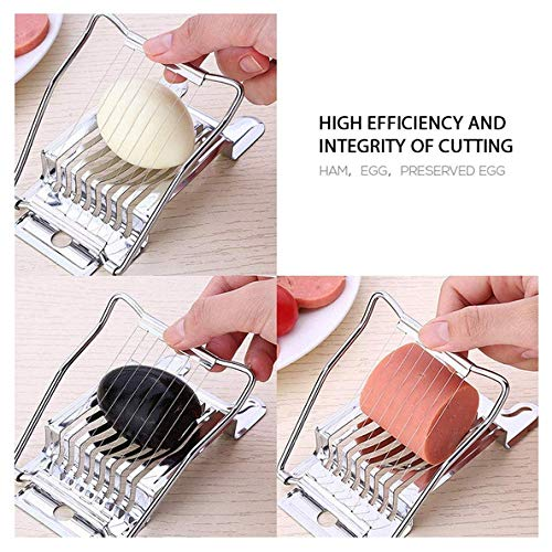 Gadgetbucket Handy Stainless Steel Egg Slicer Easily Slice Boiled Eggs Into Perfect Slices Egg Cutter 15 cm