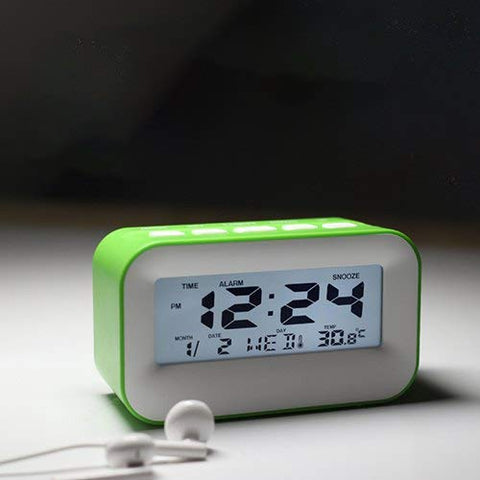Elf Music Alarm Clock Mini Silent Snooze Electronic Clock Multi-Function Perpetual Calendar Alarm Clock Perfect for Bedroom