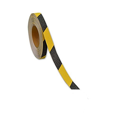 Anti Slip Floor Tape Slip-Skid Strips Tape Yellow-Black 5M-1inch