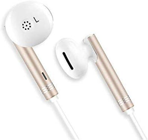 Wired Earphone for Mobile Laptops Tablet 3.5mm Jack with Volume Controls (Gold)--Pack of 2