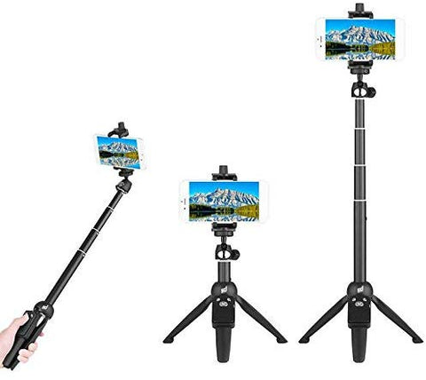 H8 Portable Bluetooth Tripod  3-in-1 with Remote Shutter - gadgetbucketindia