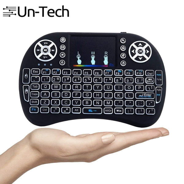 UnTech  I8 Mini Wireless Keyboard and Mouse Touchpad with Smart Function for Smart Tv, Android Tv Box, Raspberry-Pi, Android & iOS Devices (Black)