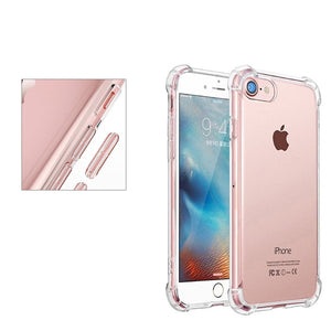 Transparent Mobile Back Cover Case with TPU Corner Protection for iPhone 8