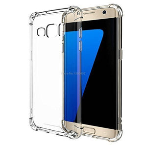 Samsung Galaxy J7 Transparent Mobile Back Cover Case with TPU Corner Protection