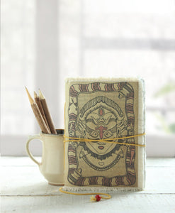 Handmade Diary Journal Hand Crafted With Hardbound Fabric Cover (Kumbh Mela)