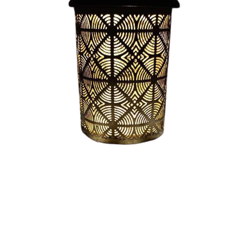 "Black Finish Metal Candle Holder 4"" Inch Lantern Ideal Gift for Votive Gardens, LED Tealights, Weddings, Spa, Reiki"