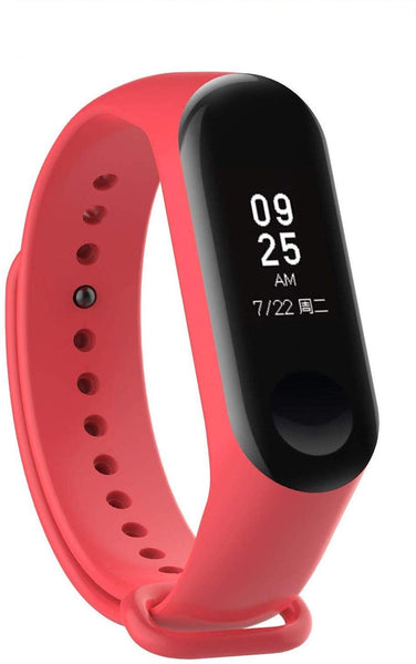 Silicon Band Strap for M3 Band (Device not Included) (Red) - gadgetbucketindia