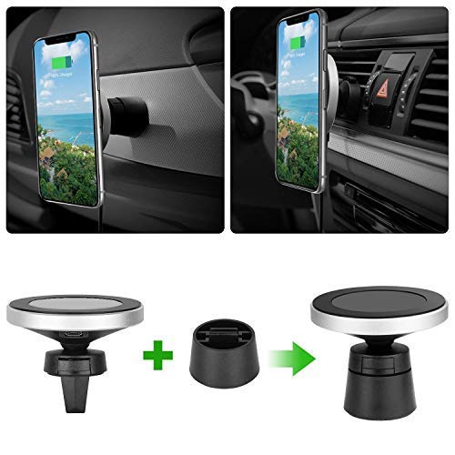 UnTech Magnetic Wireless Car Charger Mount Q I-Enabled Devices (10 W)