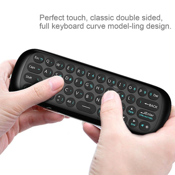 UnTech Wireless Mini Keyboard HCY-57B Fly Air 3D Mouse Smart Double Sided Remote Control for Smart TV Android TV Box Projector Computers - gadgetbucketindia
