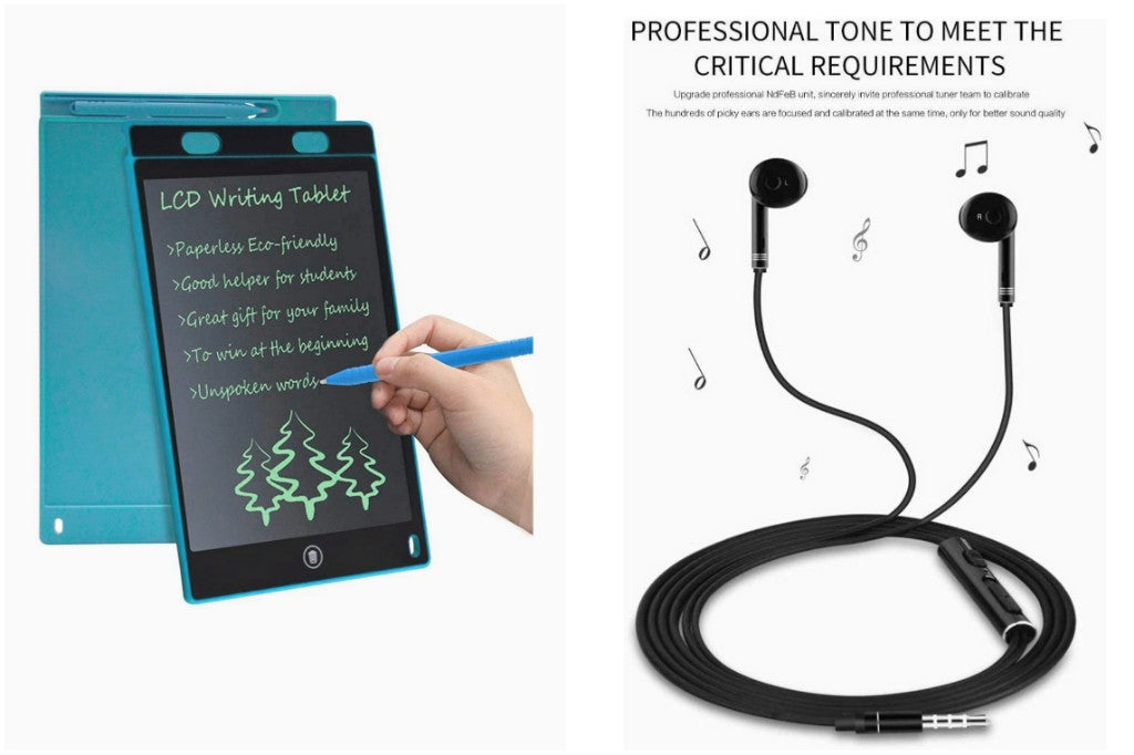Work From Home Meeting/Online Learning  Combo-Ruffpad (to take notes),Earphone