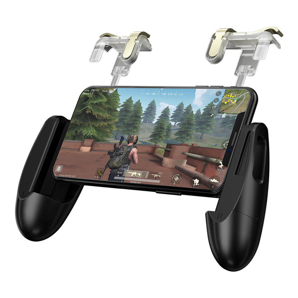 Foldable Phone Holder Gamepad Trigger Fire Assistant Tool for PUBG Mobile Game