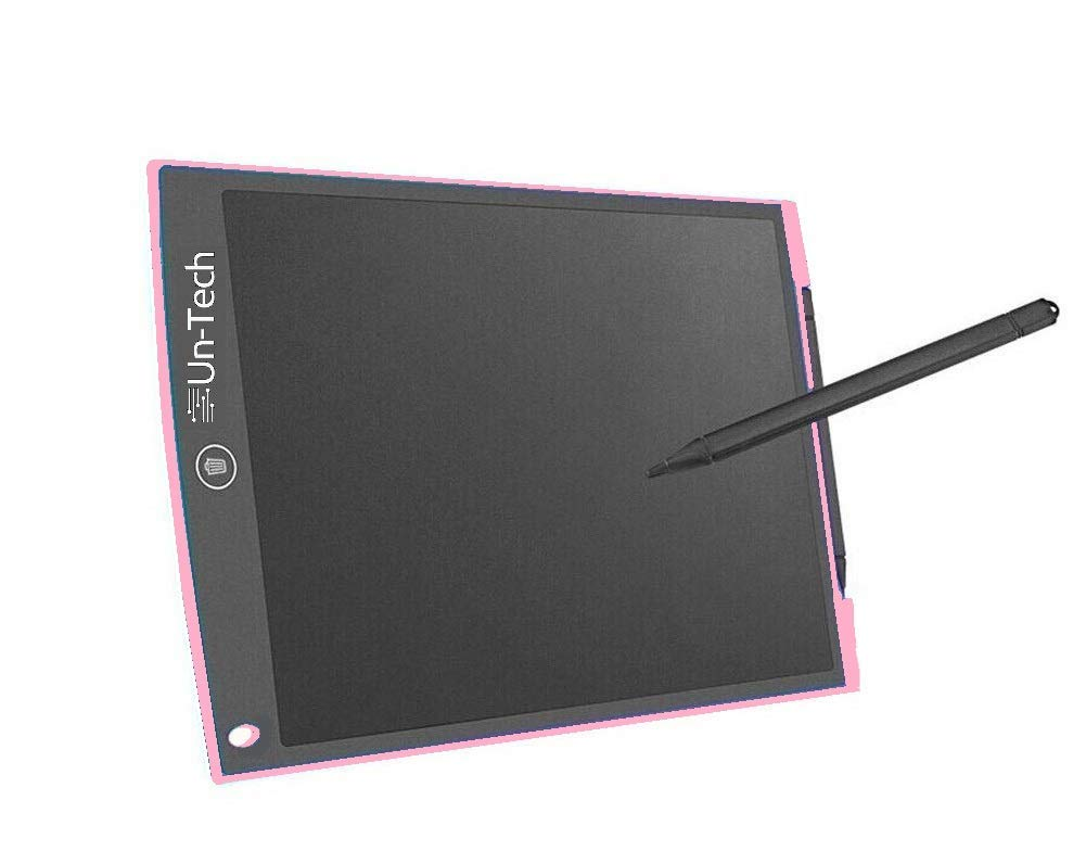 Portable 12 Inch RuffPad E-Writer LCD Writing Paperless Digital Drawing Tablet Handwriting Notepad (Pink)