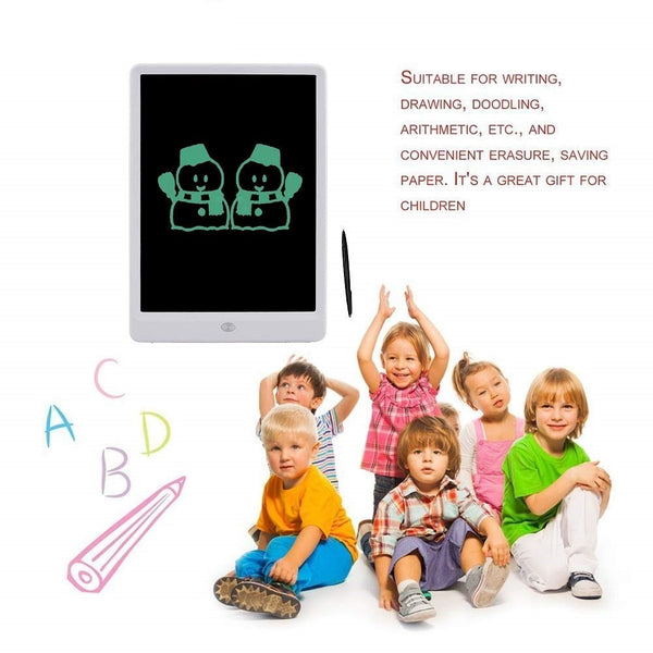 "Ruffpad, Portable 10"" Re-Writable LCD E-Pad, Paperless E-Writer with Stylus, Digital Notepad for Drawing, Playing, Handwriting."