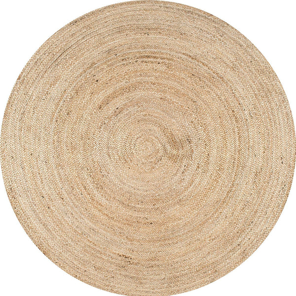 Round Jute Rug -  Natural Fibers 100% Bio Friendly Reversible Jute Rugs for Home and Kitchen