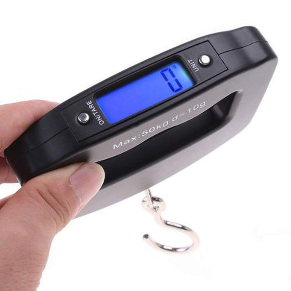 Portable Handheld Digital Heavy Duty Hook Type Luggage Weighing Scale 50 kg